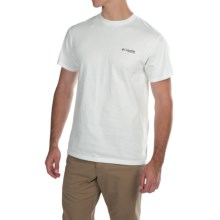 Columbia Sportswear PFG Elements Bass II T-Shirt - Short Sleeve (For Men) in White/Commando - Closeouts