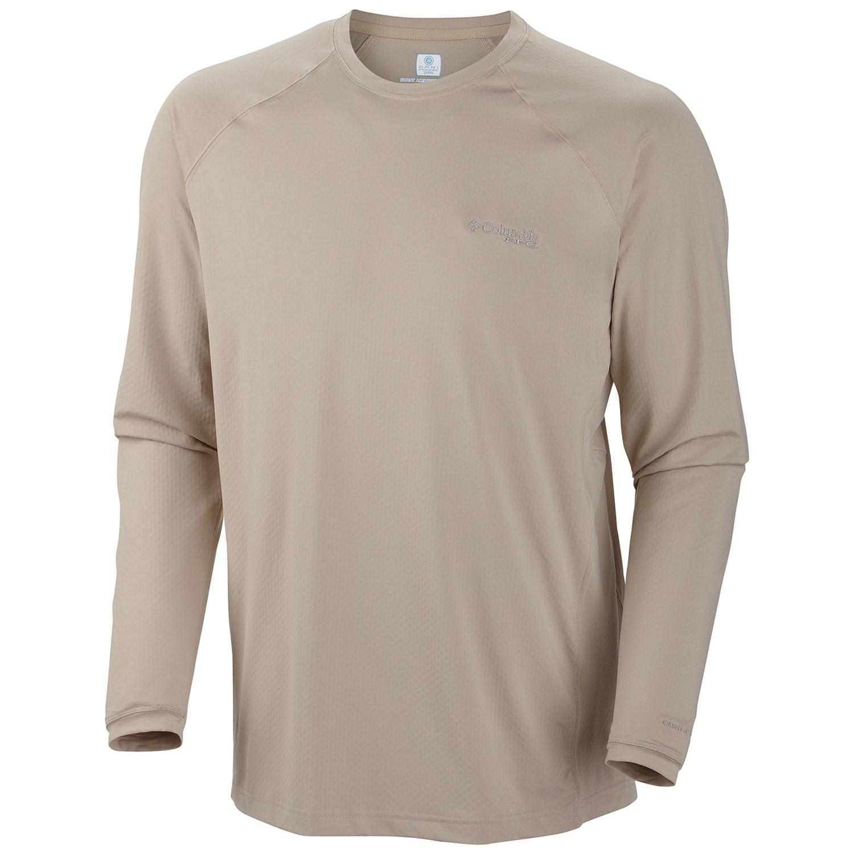 Columbia sportswear pfg freezer zero shirt upf 50 long for Men s upf long sleeve shirt