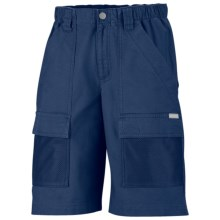 Columbia Sportswear PFG Half Moon Shorts - UPF 15, Cotton Canvas (For Youth Boys) in Carbon - Closeouts