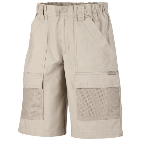 Columbia Sportswear PFG Half Moon Shorts - UPF 15, Cotton Canvas (For Youth Boys) in Fossil