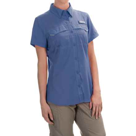 Columbia Sportswear PFG Lo Drag Shirt -Omni-Wick,® UPF 40, Short Sleeve (For Women) in Bluebell - Closeouts