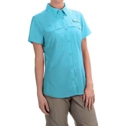 Columbia Sportswear PFG Lo Drag Shirt -Omni-Wick,® UPF 40, Short Sleeve (For Women) in Coastal Blue - Closeouts