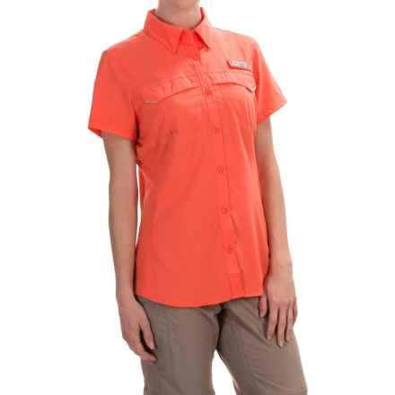 Columbia Sportswear PFG Lo Drag Shirt -Omni-Wick,® UPF 40, Short Sleeve (For Women) in Coral Flame - Closeouts