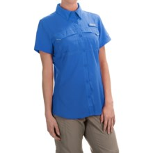 Columbia Sportswear PFG Lo Drag Shirt -Omni-Wick,® UPF 40, Short Sleeve (For Women) in Stormy Blue - Closeouts