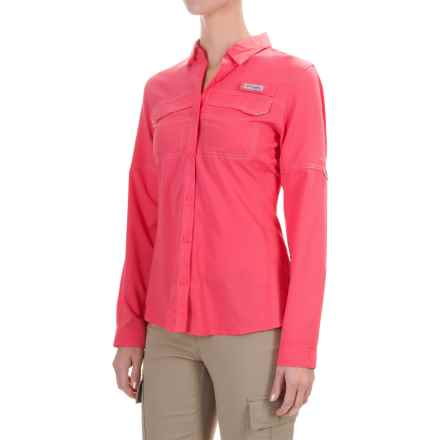 Columbia Sportswear PFG Lo Drag Shirt - UPF 40, Long Sleeve (For Women) in Bright Geranium - Closeouts