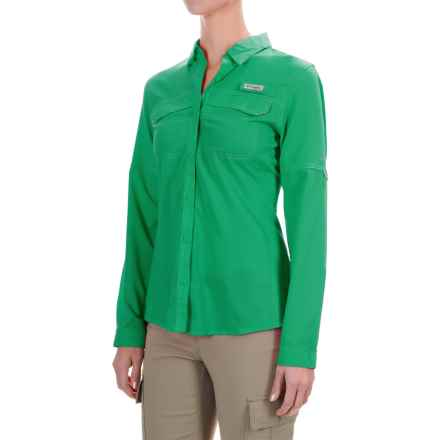 Columbia Sportswear PFG Lo Drag Shirt - UPF 40, Long Sleeve (For Women) in Dark Lime - Closeouts