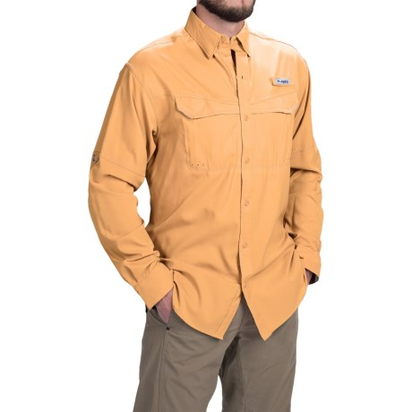 Columbia Sportswear PFG Low Drag Offshore Shirt - UPF 40, Long Sleeve (For Men) in Amber