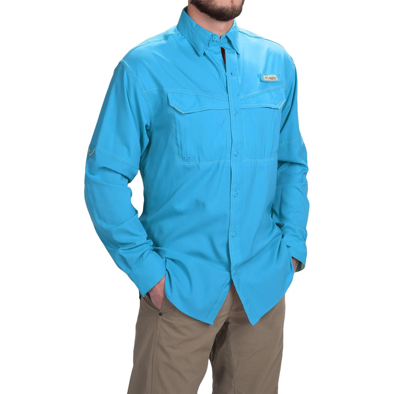 Columbia sportswear pfg low drag offshore shirt upf 40 for Men s upf long sleeve shirt