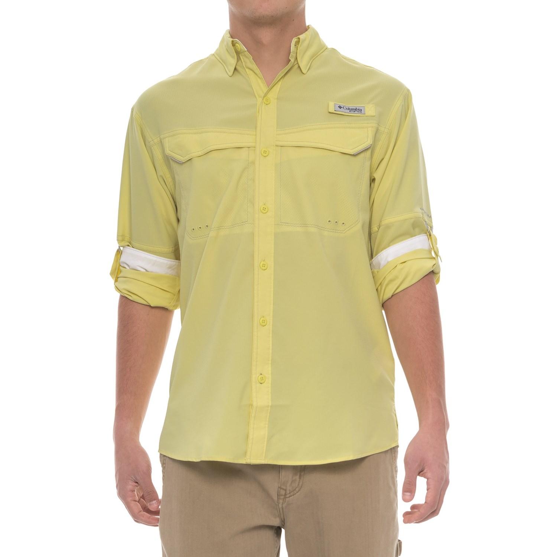 Columbia sportswear pfg low drag offshore shirt for men for Men s upf long sleeve shirt