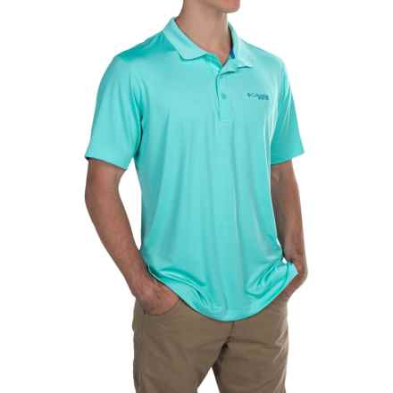 Columbia Sportswear PFG Low Drag Omni-Wick® Polo Shirt - UPF 30+, Short Sleeve (For Men) in Opal Blue/Vivid Blue - Closeouts