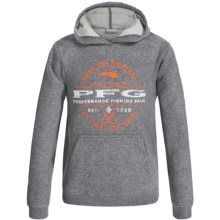 Columbia Sportswear PFG Marlin Sportsman Hoodie (For Little and Big Boys) in Charcoal Heather - Closeouts