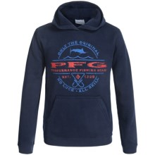 Columbia Sportswear PFG Marlin Sportsman Hoodie (For Little and Big Boys) in Collegiate Navy - Closeouts