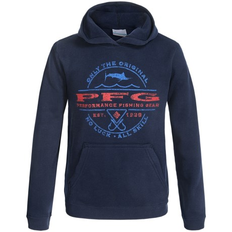 Columbia Sportswear PFG Marlin Sportsman Hoodie (For Little and Big Boys) in Collegiate Navy