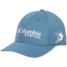 Columbia Sportswear PFG Mesh Pique Omni-Shade® Baseball Cap - UPF 50 (For Men and Women) in Steel/Marlin - Closeouts