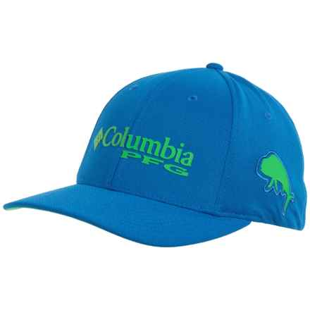Columbia Sportswear PFG Mesh Pique Omni-Shade® Baseball Cap - UPF 50 (For Men and Women) in Windswept/Dark Lime - Closeouts