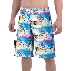 Columbia Sportswear PFG Offshore Teaser Action Boardshorts - UPF 30 (For Men) in White Cap, Miami Marlin