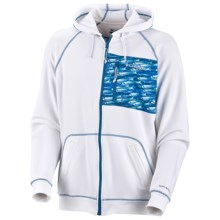 Columbia Sportswear PFG Offshore Tech Hoodie Sweatshirt - UPF 30 (For Men) in White/Bill Baits - Closeouts