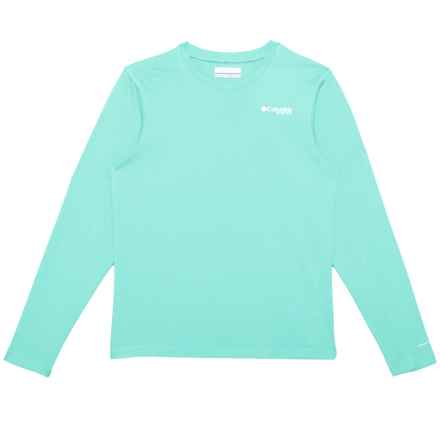 Columbia Sportswear PFG Omni-Freeze® ZERO Rules T-Shirt - UPF 30, Long Sleeve (For Girls) in Gulf Stream