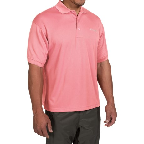Columbia Sportswear PFG Perfect Cast Polo Shirt - Short Sleeve (For Big and Tall Men) in Sorbet