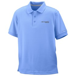 Columbia Sportswear PFG Perfect Cast Polo Shirt - UPF 30, Short Sleeve (For Boys) in White Cap