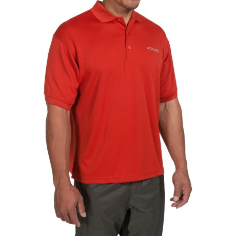 Columbia Sportswear PFG Perfect Cast Polo Shirt - UPF 30, Short Sleeve (For Men) in Sail Red