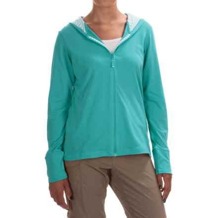 Columbia Sportswear PFG Reel Beauty Omni-Wick® Hoodie - UPF 15, Full Zip (For Women) in Miami/Multi Stripe - Closeouts
