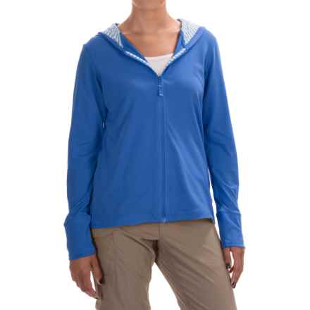 Columbia Sportswear PFG Reel Beauty Omni-Wick® Hoodie - UPF 15, Full Zip (For Women) in Stormy Blue/Multi Stripe - Closeouts
