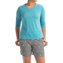 Columbia Sportswear PFG Skiff Agua Shirt - Omni-Wick®, UPF 50, 3/4 Sleeve (For Women) in Coastal Blue - Closeouts