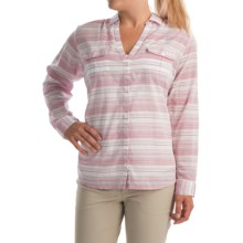 Columbia Sportswear PFG Sun Drifter Shirt - Long Sleeve (For Plus Size Women) in Haute Pink Stripe - Closeouts