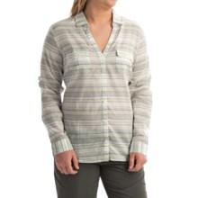 Columbia Sportswear PFG Sun Drifter Shirt - Long Sleeve (For Women) in Collegiate Navy  Stripe - Closeouts