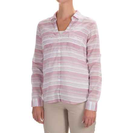 Columbia Sportswear PFG Sun Drifter Shirt - Long Sleeve (For Women) in Haute Pink Stripe - Closeouts