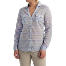 Columbia Sportswear PFG Sun Drifter Shirt - Long Sleeve (For Women) in Pale Purple Stripe - Closeouts