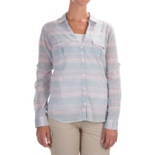Columbia Sportswear PFG Sun Drifter Shirt - Long Sleeve (For Women) in Stone Blue Stripe - Closeouts