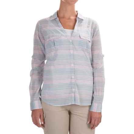 Columbia Sportswear PFG Sun Drifter Shirt - Long Sleeve (For Women) in Stone Blue Stripe - Closeouts