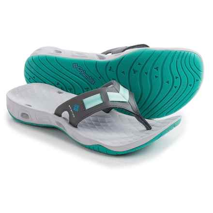 Columbia Sportswear PFG Sunbreeze Vent Cruz Flip-Flops (For Women) in Dark Fog/Pale Purple - Closeouts