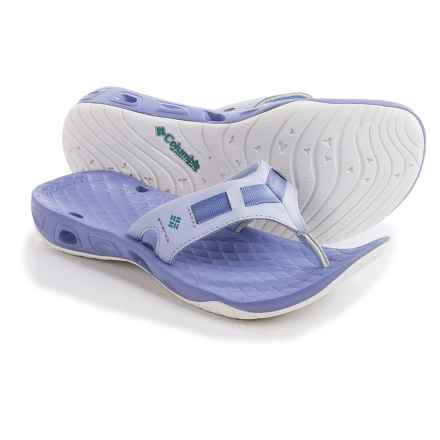 Columbia Sportswear PFG Sunbreeze Vent Cruz Flip-Flops (For Women) in Faded Sky/Miami - Closeouts