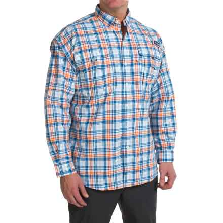 Columbia Sportswear PFG Super Bahama Shirt - UPF 30, Long Sleeve (For Big Men) in Valencia Multi Check - Closeouts