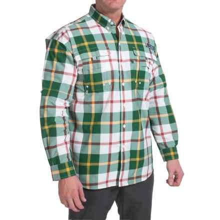 Columbia Sportswear PFG Super Bahama Shirt - UPF 30, Long Sleeve (For Big Men) in Wildwood Green Multi Plaid - Closeouts