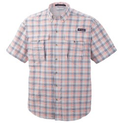 Columbia Sportswear PFG Super Bahama Shirt - UPF 30, Short Sleeve (For Men) in Brownstone/Seersucker
