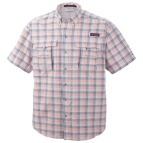 Columbia Sportswear PFG Super Bahama Shirt - UPF 30, Short Sleeve (For Men) in Vivid Blue Multi Gingham