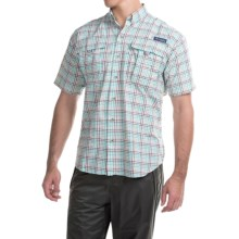 Columbia Sportswear PFG Super Bahama Shirt - UPF 30, Short Sleeve (For Men) in Brownstone/Seersucker - Closeouts