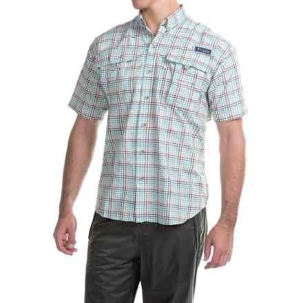 Columbia Sportswear PFG Super Bahama Shirt - UPF 30, Short Sleeve (For Men) in Brownstone/Seersucker - Closeouts