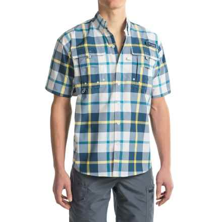 Columbia Sportswear PFG Super Bahama Shirt - UPF 30, Short Sleeve (For Men) in Carbon Multi Plaid - Closeouts