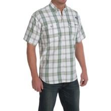 Columbia Sportswear PFG Super Bahama Shirt - UPF 30, Short Sleeve (For Men) in Commando/Plaid - Closeouts