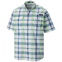 Columbia Sportswear PFG Super Bahama Shirt - UPF 30, Short Sleeve (For Men) in Key West/Plaid - Closeouts