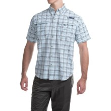 Columbia Sportswear PFG Super Bahama Shirt - UPF 30, Short Sleeve (For Men) in Light Metal/Seersucker - Closeouts