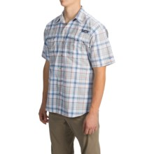 Columbia Sportswear PFG Super Bahama Shirt - UPF 30, Short Sleeve (For Men) in Nectar Plaid - Closeouts