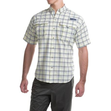 Columbia Sportswear PFG Super Bahama Shirt - UPF 30, Short Sleeve (For Men) in Vivid Blue Large Plaid
