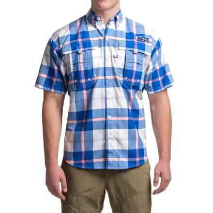 Columbia Sportswear PFG Super Bahama Shirt - UPF 30, Short Sleeve (For Men) in Vivid Blue Multi Plaid - Closeouts
