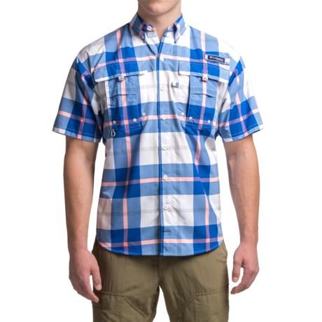 Columbia Sportswear PFG Super Bahama Shirt - UPF 30, Short Sleeve (For Men) in Vivid Blue Multi Plaid